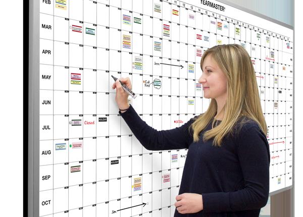 Year Calendar Whiteboard : Dry erase whiteboard calendars