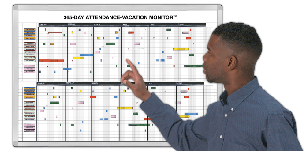employee vacation tracking template
