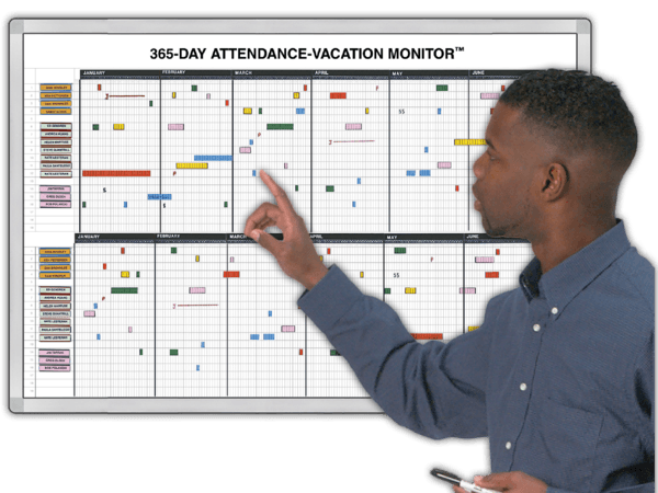 365-Day Attendance Tracking and Vacation Monitor™