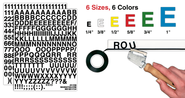 adhesive press on letter number sets from magnatag With whiteboard letter stickers