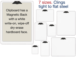 Clipboards - Magnet Backed