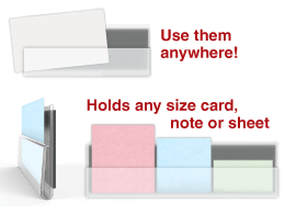 Card Grip™ Magnetic or Adhesive Transparent Channel Strips