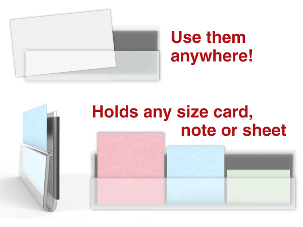 CardGrip™ open-top Cardholder Channels