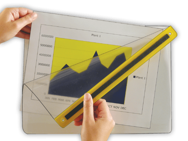 Transparent Magnetic Display ChartJackets®
