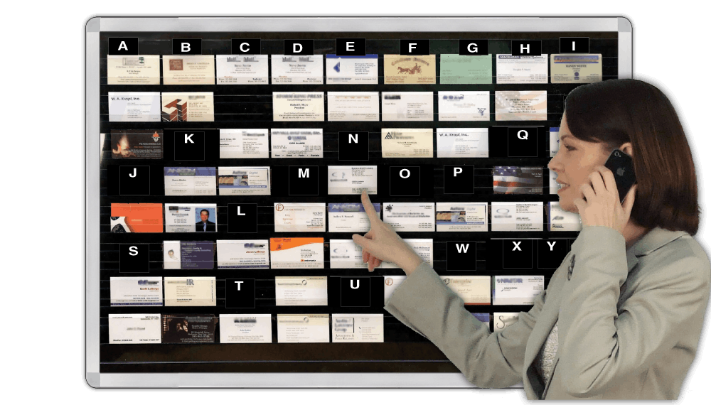 Business-Card transparent display Panels