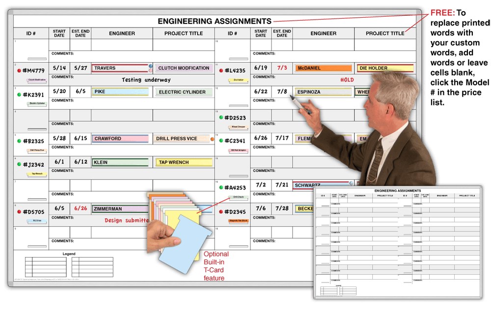 engineering assignments  18 assignments displayed color coded key status information