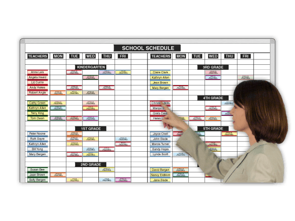 Special Subject Schedules. 4 Sizes