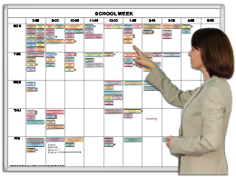 SchoolWeek™ Hourly Magnetic Calendar