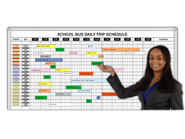 School Bus Trip Schedule by Time