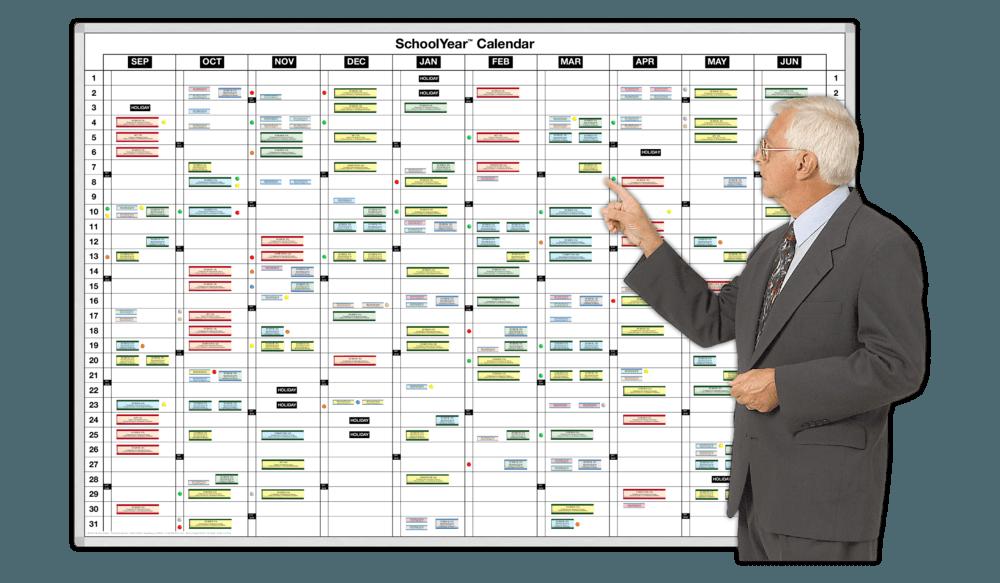 Year Calendar Whiteboard : Schoolyear™ daily planning calendar