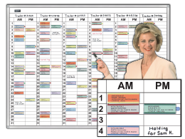 AM-PM 31-day Usage & Reservation Schedule