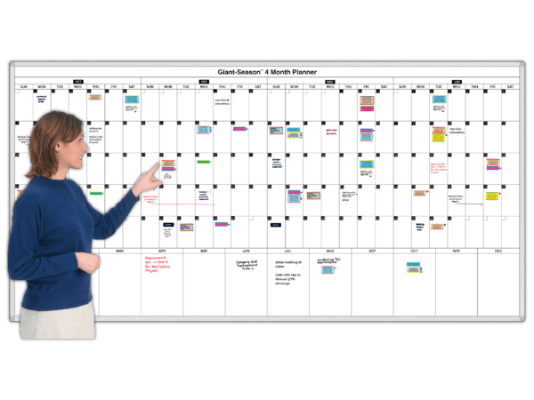 Giant-Season™ 4-Month Magnetic Planning Calendar