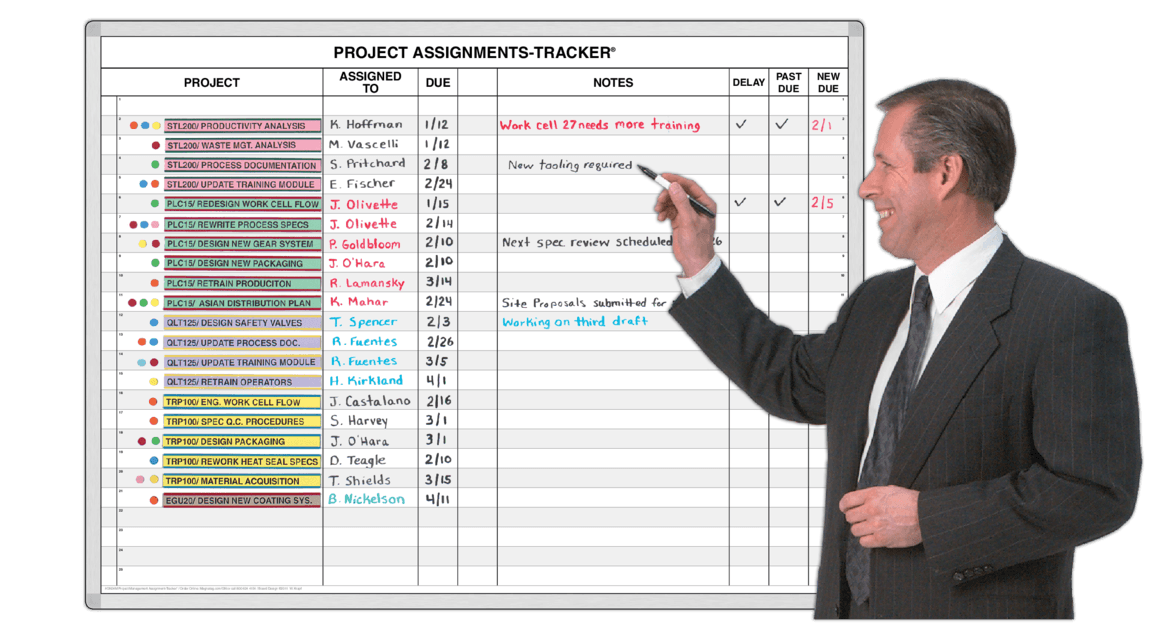 Project Milestones Project Assignment Tracker Magnatag