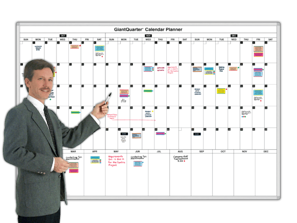 GiantQuarter® 3-Month Daily Planning Calendars