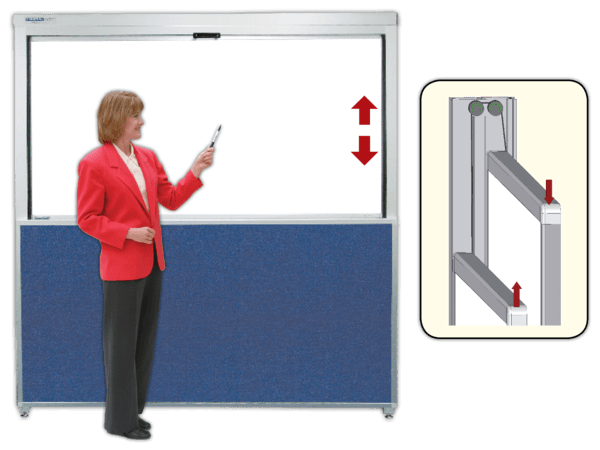 HighRizer™ Vertical Sliding Whiteboard Cabinets