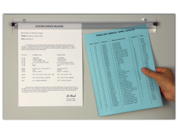 Grip-a-Sheet® Transparent Document display bars