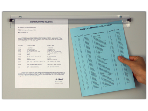 Grip A Sheet Transpa Doent Display Bars