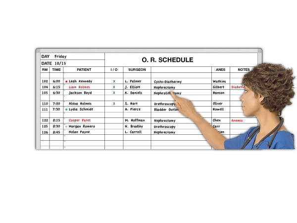 Out-Patient Surgery Schedule