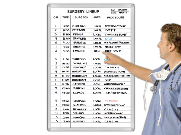 Surgery LineUp™ Schedule