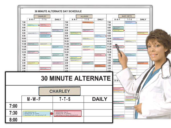 30 Min. Alternate-Day Therapists Schedule