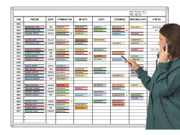 Patient-Nurse 24-hour assignments board