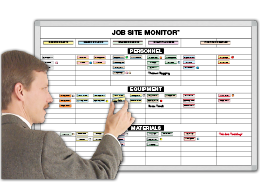 Job-Site Monitor for Equip. Men & Material
