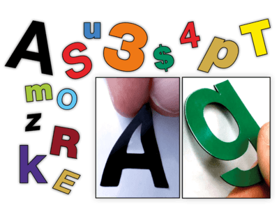 Individual Die-Cut Exact-Letters® Magnetic or Adhesive