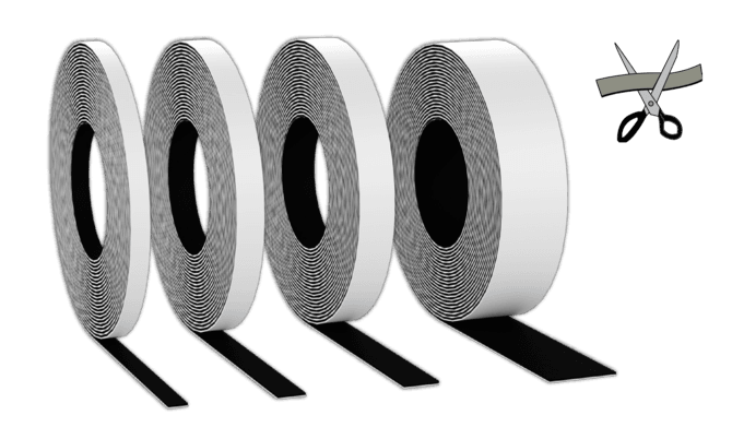 Magnetic Rolls: Adhesive-back MagnetMount® from Magnatag