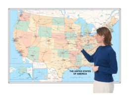 Magnetic Whiteboard Maps
