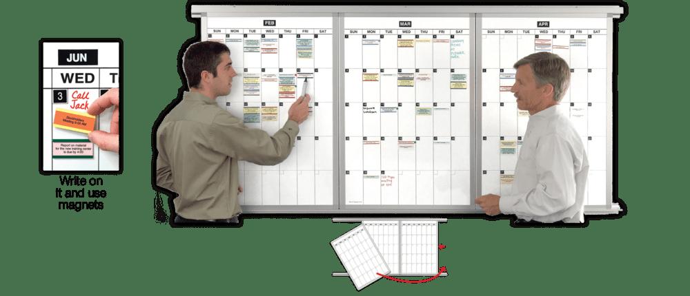 Modular Monthly Magnetic Dry Erase Calendar Whiteboards