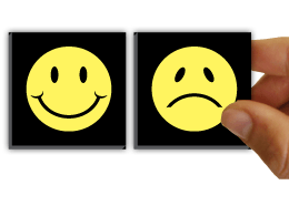 FlipOver® Happy-Sad™ Smiley Magnets