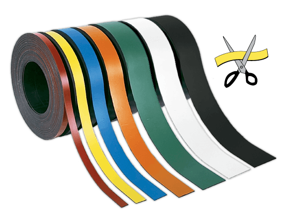 LabelMount® Magnet Rolls; 7 colors