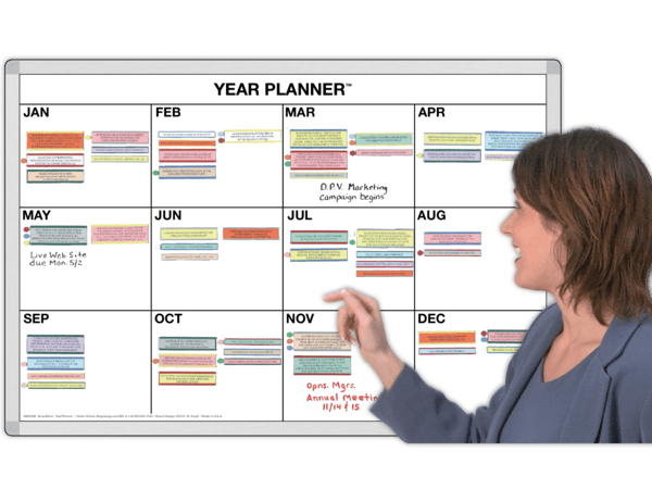 12-Month BroadView™ Yearly Calendar Planner
