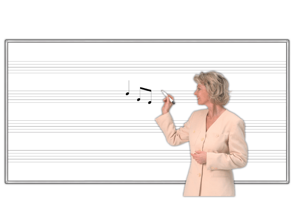 Music Staff Dry-Erase Magnetic Whiteboards