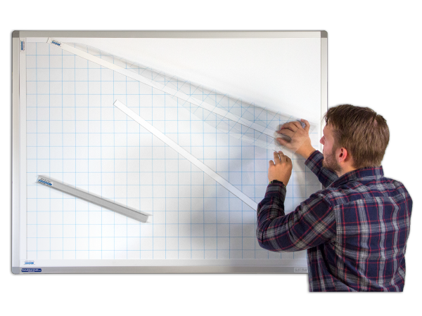 OverSkin™ Plain, grid or row printed Transparent Films for converting steel whiteboards