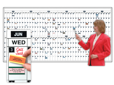 Magnetic 365-Day Dry-Erase Calendar