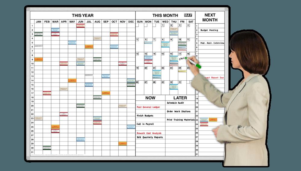 Time-Task Magnetic Dry Erase Planner Whiteboards