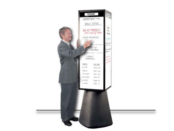 "RotoCube® 19"" Magnetic Bulletin Towers display 24 sq. ft."