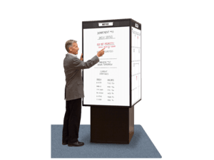 RotoCube® Island Large Rotating Whiteboard Tower