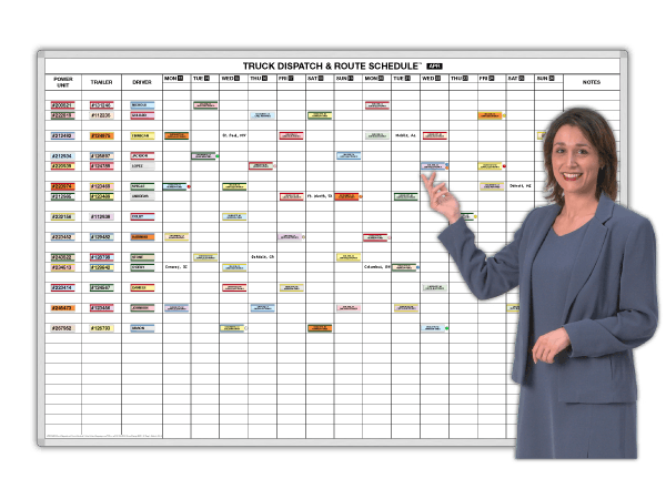 Truck Dispatch and Route Schedule, 3 Sizes