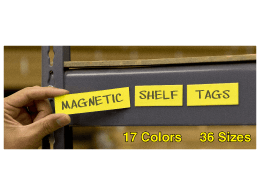 Shelf Tag Write On Magnets
