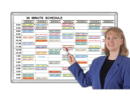 Minute by Minute Time schedules