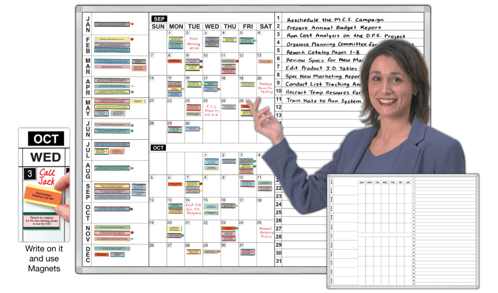 Personal Time Task Organizer Boards Magnatag