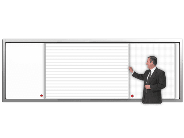 SlidePanel™ 2-Track PlanView® wall cabinets