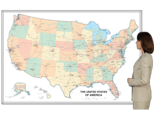 United States Map Magnets.Magnetic Dry Erase Whiteboard Map
