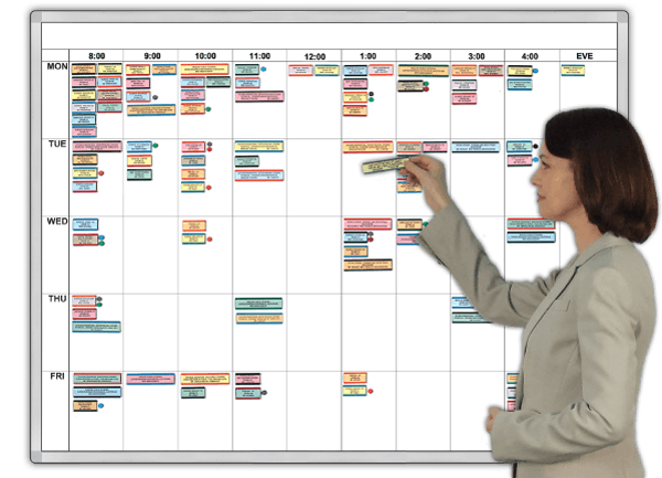 WorkWeek® Hourly Work Schedule & Organizer Plan & stage 8 to 5 hourly activity for a week. 2 Sizes
