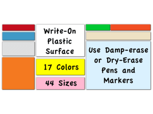 2079d1c9e98 Dry and Damp Erase. Write-on Magnets in die-cut sizes
