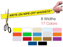 Write-on Magnet Strips