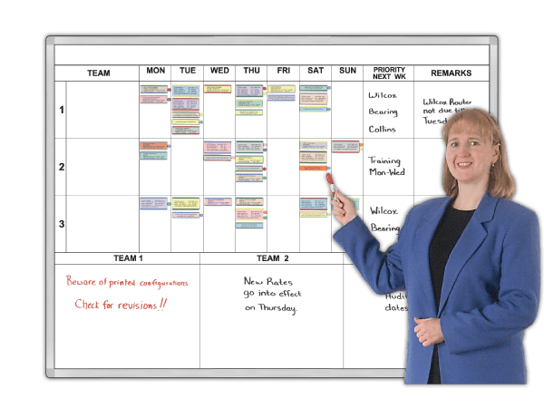 Team 7-Day Task Work Schedule Organizer