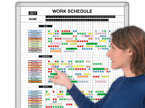 MagnaStaffer® Daily Work Schedules